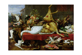 Still Life with a Red Deer Giclee Print by Frans Snyders Or Snijders
