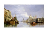 The Grand Canal with the Church of Santa Maria Della Salute, Venice Giclee Print by William James Muller
