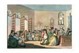 The Pump Room, Plate 3 from 'Comforts of Bath', 1798 Giclee Print by Thomas Rowlandson