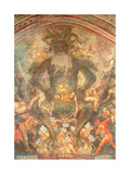 The Last Judgement, Detail of the Leviathan, c.1394 Giclee Print by Taddeo di Bartolo