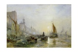 Shipping on the Thames Giclee Print by Samuel Bough