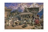 Puja at Chini Bashahr, Himalayas, c.1859-66 Giclee Print by William 'Crimea' Simpson