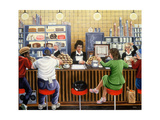 New York Diner, 1987 Giclee Print by Liz Wright