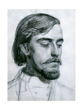 Study for the Head of Valentine, 1880 Giclee Print by William Holman Hunt