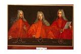 Portrait of Three Lawyers, Orazio Bembo, Orazio Angarano and Melchior Gabriel Giclee Print by Pietro Uberti