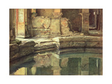 The Roman Circular Bath at Bath Giclee Print by Edward John Poynter