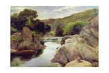 Glenfinlas with Millais Fishing, 1853 Giclee Print by William Henry Millais