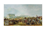 View of Musselburgh Races Giclee Print by William 'de Lond' Turner