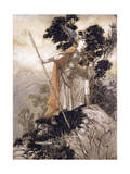 Brunhilde, Illustration from 'The Rhinegold and the Valkyrie' by Richard Wagner, 1910 Giclee Print by Arthur Rackham