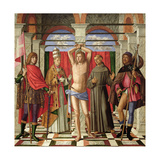 Saint Sebastian with Saints Liberale, Gregory, Francis and Roch Giclee Print by Giovanni Di Niccolo Mansueti