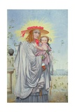 Mother and Child, 1860 Giclee Print by Richard Dadd
