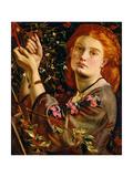 Hanging the Mistletoe, 1860 Giclee Print by Dante Gabriel Rossetti