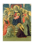 Madonna and Child Enthroned with Angels and Saints Giclee Print by Fra Filippo Lippi