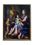 The Holy Family with the Infant St. John, 1660 Giclee Print by Nicolas Poussin
