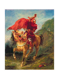 Arab Horseman Giving a Signal Giclee Print by Eugene Delacroix