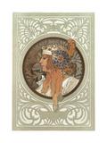 Alphonse Mucha - Tetes Byzantines: Blonde, 1897 Digitálně vytištěná reprodukce
