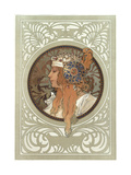 Tetes Byzantines: Blonde, 1897 Lámina giclée por Mucha, Alphonse Marie