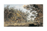 Coach and Four Arriving at a Toll Gate, London Giclee Print by James Miller