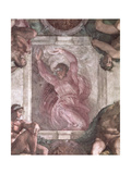 God Dividing Light from Darkness, from the Sistine Chapel Ceiling, 1508-12 Giclee Print by  Michelangelo Buonarroti