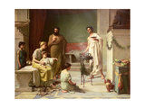 The Visit of a Sick Child to the Temple of Aesculapius, 1877 Giclee Print by John William Waterhouse