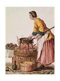 Venetian Doughnut Seller Giclee Print by Jan van Grevenbroeck
