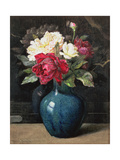 Roses in a Vase Giclee Print by Helen Cordelia Coleman Angell
