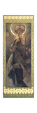 The Moon and the Stars: The Moon, 1902 Giclée-tryk af Alphonse Mucha
