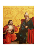 Antipater Kneeling before Juilus Caesar, from the Mirror of Salvation Altarpiece, c.1435 Giclee Print by Konrad Witz