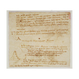 Page from a Notebook Showing a Plan for a Church Giclee Print by Leonardo Da Vinci