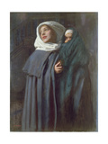 Mother and Child Giclee Print by Edward Robert Hughes