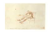 Walter Sickert (1860-1942) Sketching, 1885 Giclee Print by James Abbott McNeill Whistler