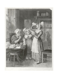 Saint Valentine's Day. the Post-Mistress, Engraved by W.O. Geller, c.1800 Giclee Print by Henry James Richter
