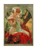 Sarah Bernhardt (1844-1923) Lefevre-Utile, 1903 Giclee Print by Alphonse Mucha