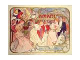 Poster Advertising 'Amants', a Comedy at the Theatre De La Renaissance, 1896 Giclée-Druck von Alphonse Mucha