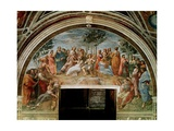 The Parnassus, from the Stanza Delle Segnatura, 1510-11 Giclee Print by  Raphael