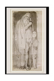 The Blind Tiresias and a Boy Giclee Print by John Flaxman