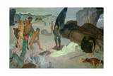 Repose on the Flight into Egypt, c.1922 Giclee Print by Glyn Warren Philpot