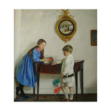 Laura and Paul Jewill Hill, 1915 Giclee Print by Harold Harvey