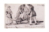 Dorothy Wordsworth (1771-1855) in a Wheelchair, 1842 Giclee Print by John Harden