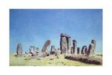 Sheep at Stonehenge Giclee Print by William Turner