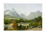 The Head of Glen Sannox, Arran Giclee Print by John Knox