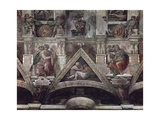 The Sistine Chapel Ceiling (1508-12): The Prophet Isaiah and the Delphic Sibyl Giclee Print by  Michelangelo Buonarroti