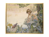 The Fairy and the Beetle, 1922 Giclee Print by Arthur Herbert Buckland