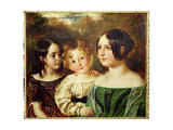 The Wood Children - Emily, Frederick and Mary, c.1845 Giclee Print by William Etty