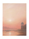 Evening on the Yamuna Giclee Print by Derek Hare