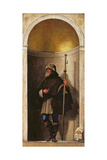 St. Sinibaldus, from an Organ Shutter from the Church of San Bartolomeo, 1508-09 Giclée-tryk af Sebastiano del Piombo