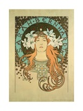 Sarah Bernhardt (1844-1923) La Plume, 1896 Giclee Print by Alphonse Mucha