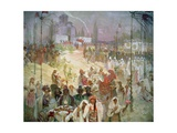The Coronation of Tsar Stepan Dusan (1308-55) from the 'Slav Epic', 1926 Giclee Print by Alphonse Mucha