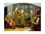 The Home Quartet: Mrs Vernon Lushington and Her Children, 1883 Giclee Print by Arthur Hughes