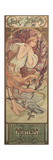 The Seasons: Spring, 1897 Giclee Print by Alphonse Marie Mucha